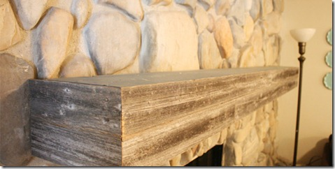 Installing-a-wood-mantel-on-a-stone-wall
