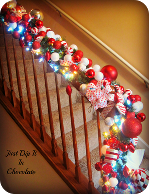 Just Dip it in Chocolate banister decor