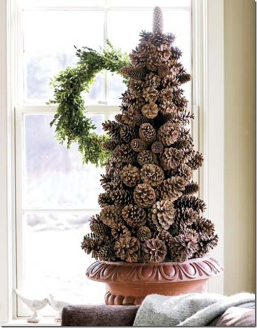 Pink Porch Pine Cone Tree