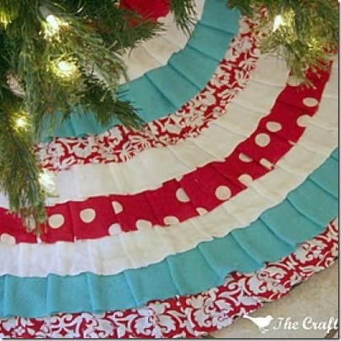 The Crafted Sparrow Ruffled Tree Skirt