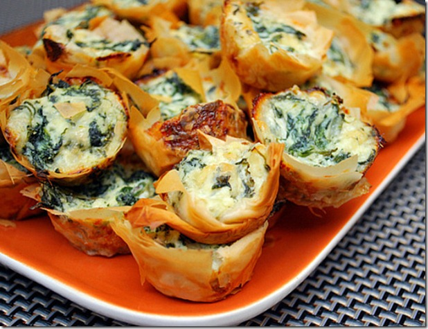 What's cookin chicago Spanakopita Bites
