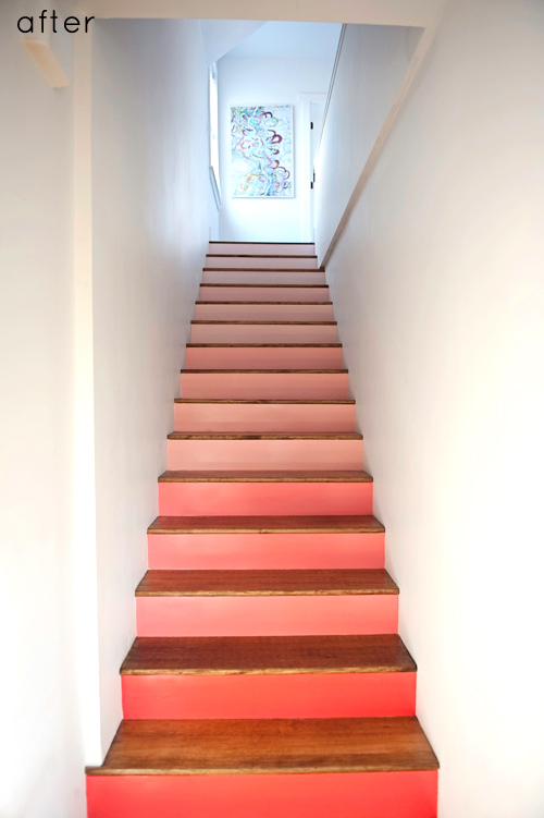 Design Sponge coral stairs