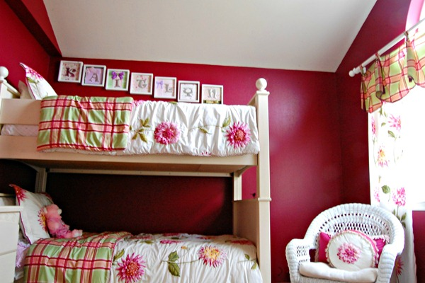 Favorite Paint Colors red girls room