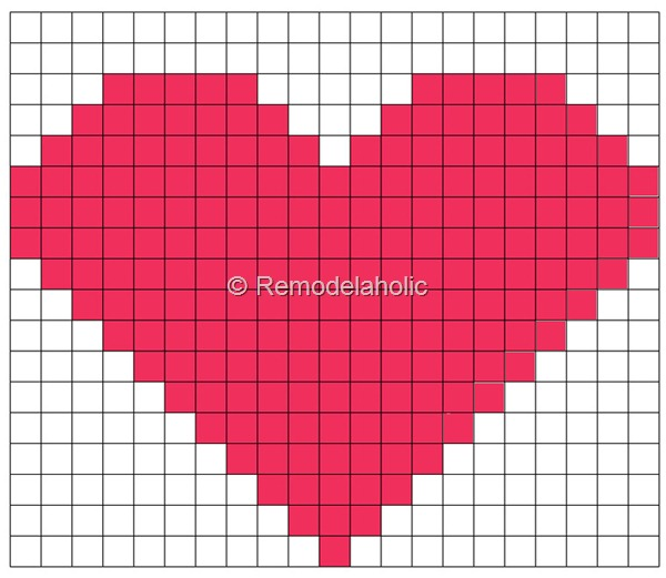 Heart Grid Embroidery