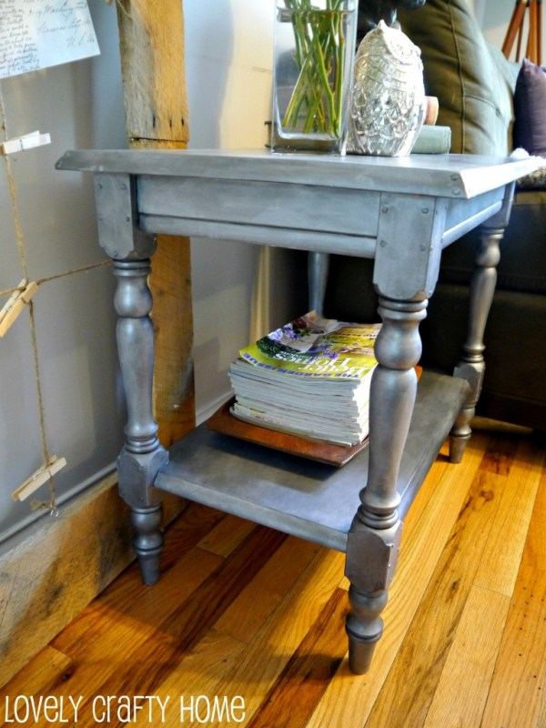 Lovely Crafty Home zinc side table