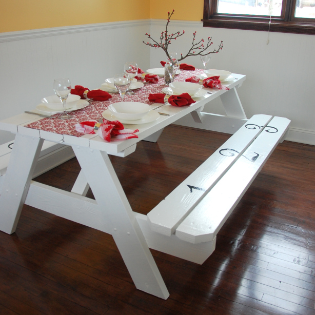 Making My House a Home Picnic Table
