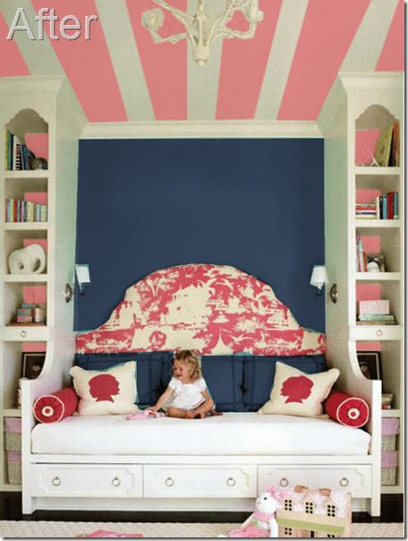 Pink and Navy bedroom updates