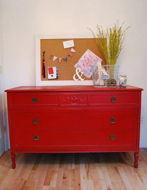 Reckless Glamour red dresser