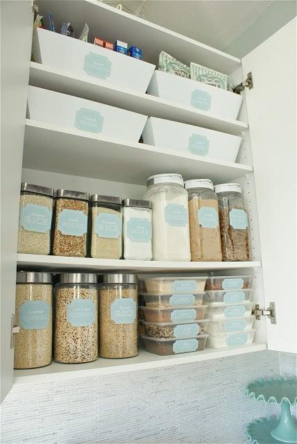 Social Home cupboard organization
