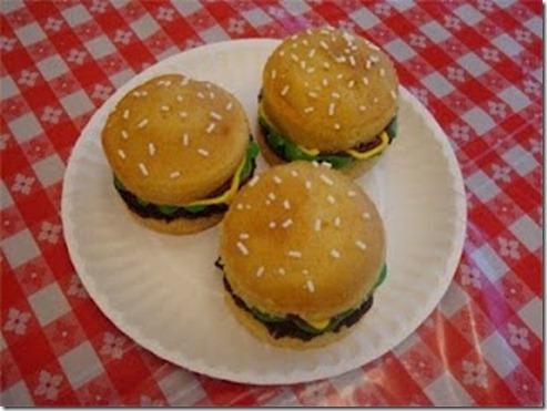 Tattered Bliss Fun Hamburger Cupcakes