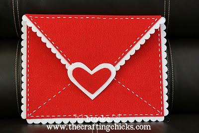 The crafting chicks felt valentine's envelope