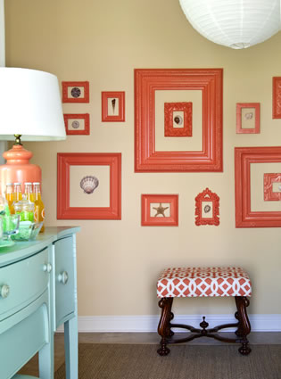 Tobi Fairly coral frame collage