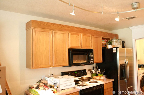 update kitchen cabinets with molding update builder grade cabinets fast without painting 27717