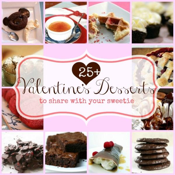 25 + valentine dessert ideas