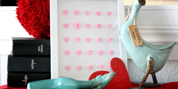 remodelaholic conversation heart decor