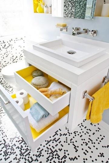 yellow drawer interiors