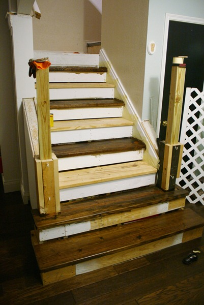 Stair Remodel; From Carpet to Wood Treads