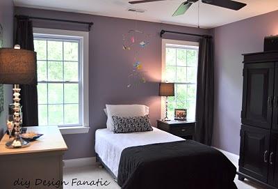 DIY Design Fanatic intense purple bedroom