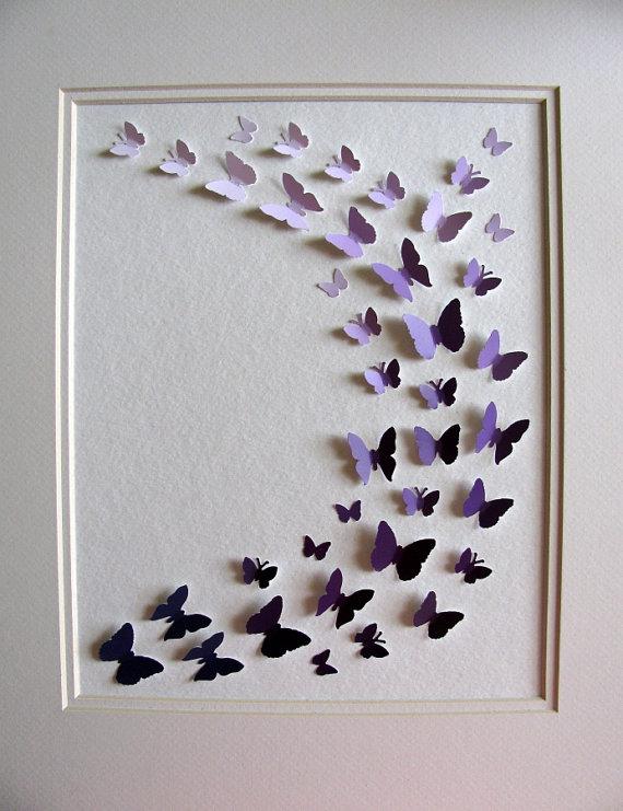 Etsy Purple Paint Chip Art