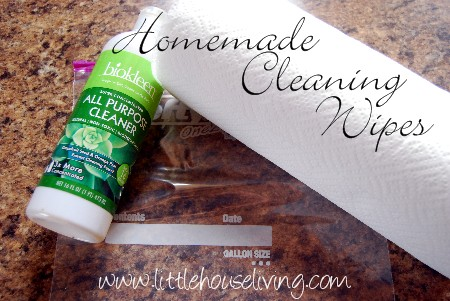 Homemade Cleaning Wipes Little House Living