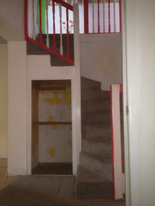 Lindsay & Drew staircase before