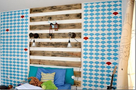 Nellie Bellie boy room weathered wood accent wall
