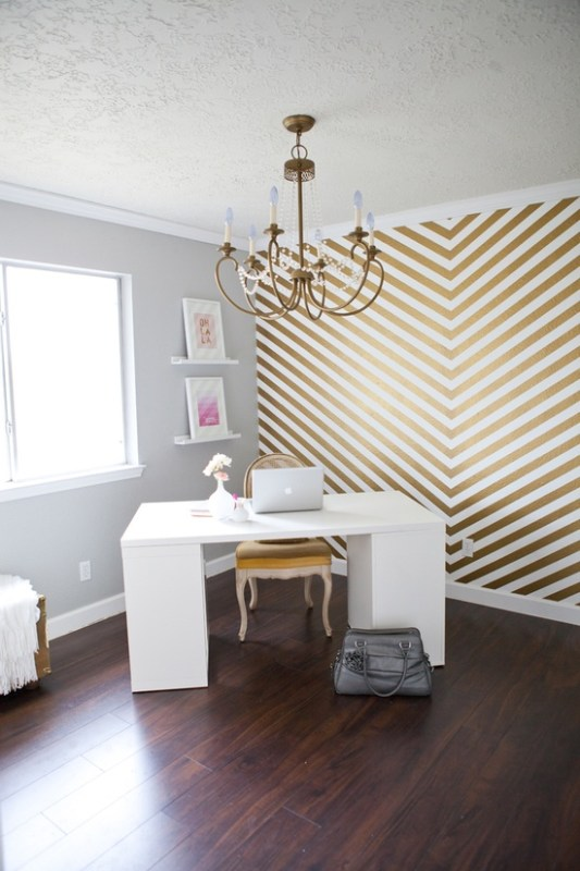 So Shay gold chevron wall
