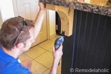 black board and batten kitchen island makeover-19