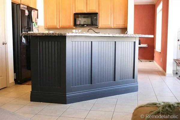 Nice Black Board And Batten Kitchen Island Makeover 31d 1 2