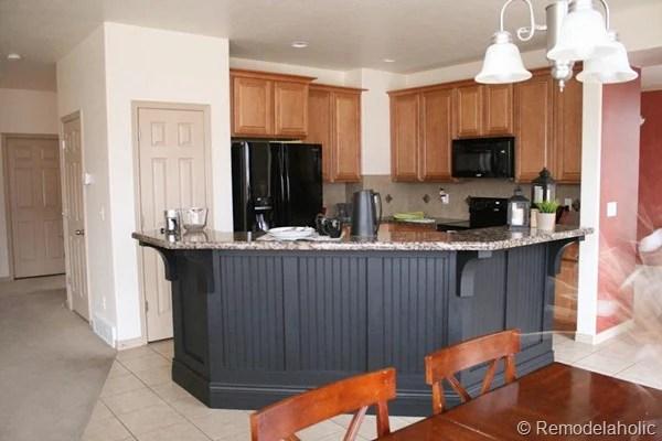 black board and batten kitchen island makeover-33