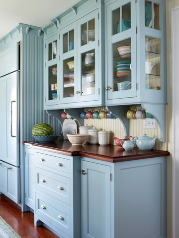 BH&G cottage blue kitchen