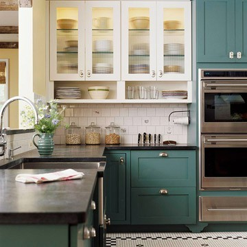 BH&G moody blue cabinets