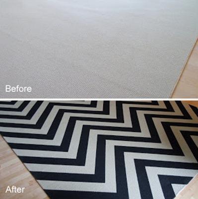 Chevron painted rug