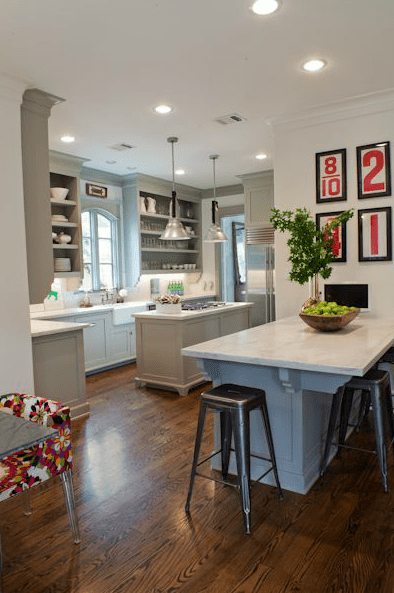 Decor Pad gray and red kitchen