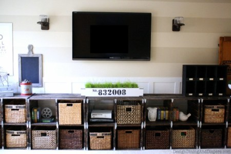 Design Dining and Diapers pallet wood media center