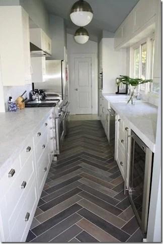 Design Dump herringbone tile floor