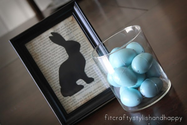 Fit Crafty Stylish and Happy bunny silhouette