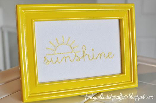 Funky Polka Dot Giraffe sunshine in a frame