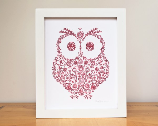 Geraldine Adams owl picture