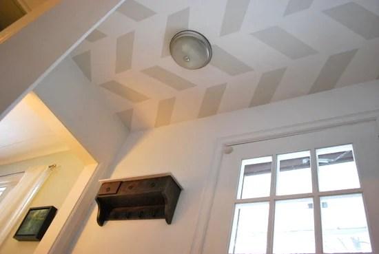 Herringbone Entry Ceiling