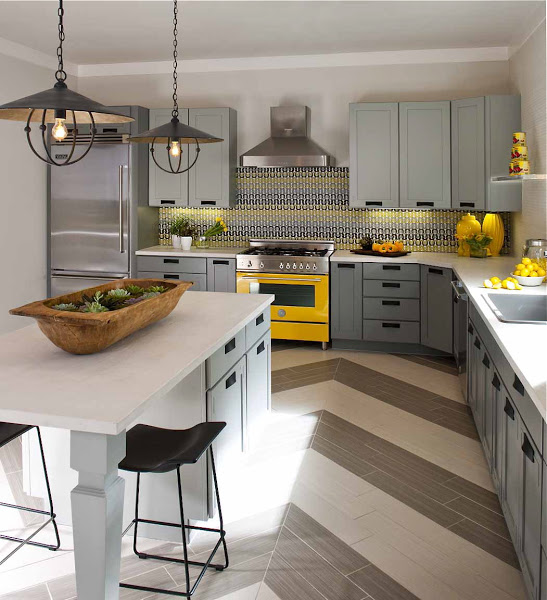 Grey White Yellow Kitchen: Trending Now: Color In The Kitchen