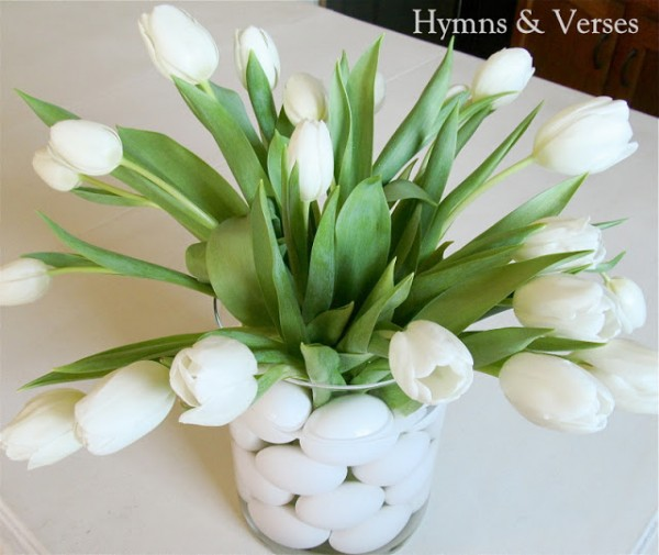 Hymns and Verses tulips and eggs