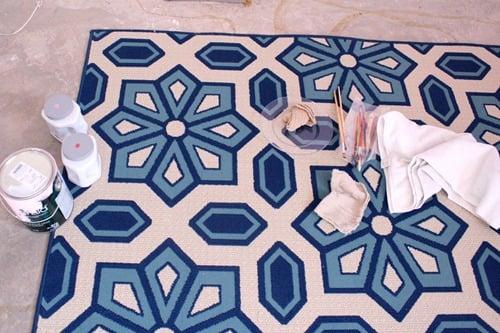 Living Room Flooring & Painting etta's Rug 019