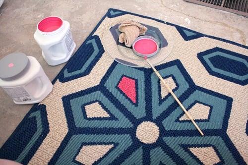 Living Room Flooring & Painting etta's Rug 020