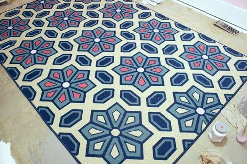 Living Room Flooring & Painting etta's Rug 025