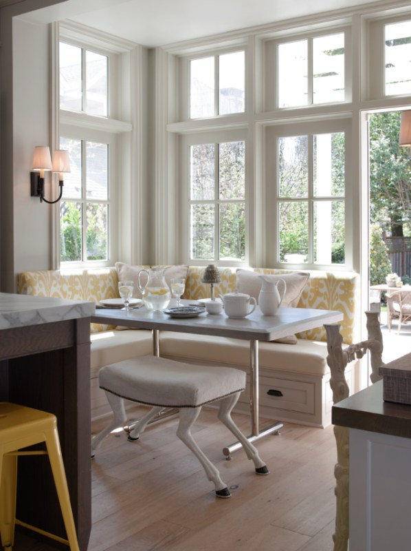 Looking at Glass banquette seating