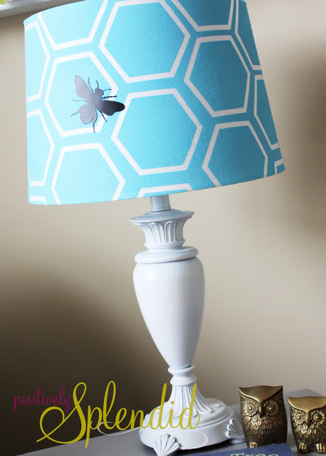 Positively Splendid honeycomb lamp