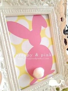 Preppy & Pink bunny printable
