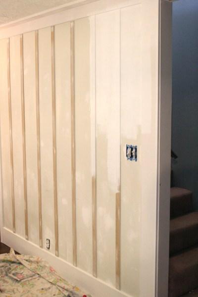 board and batten wall treatment
