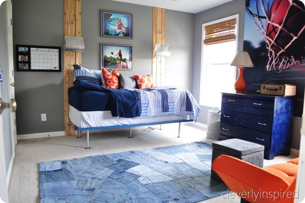 Cleverly Inspired gray and orange room